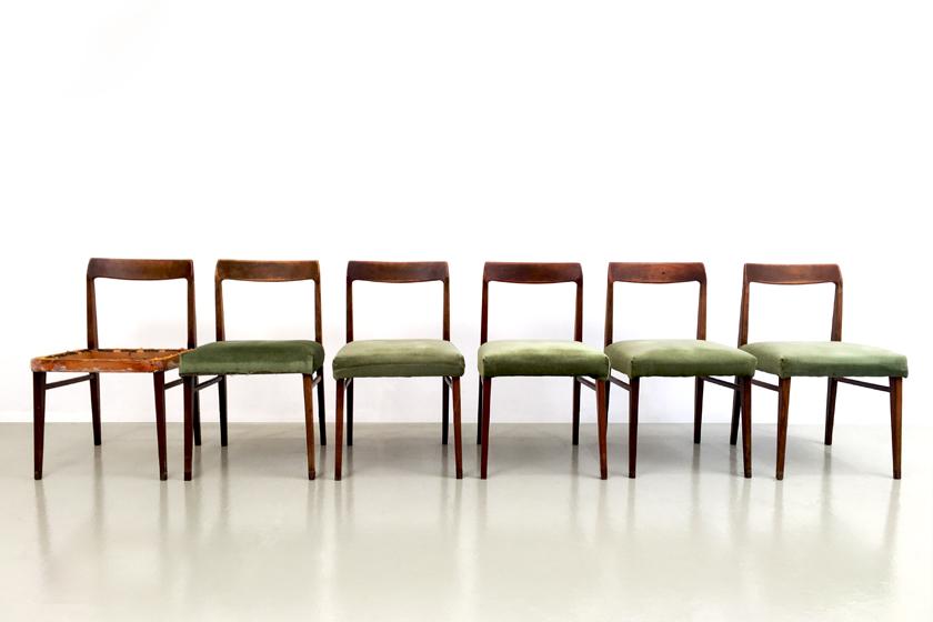Interlübke Esszimmerstühle Palisander Set