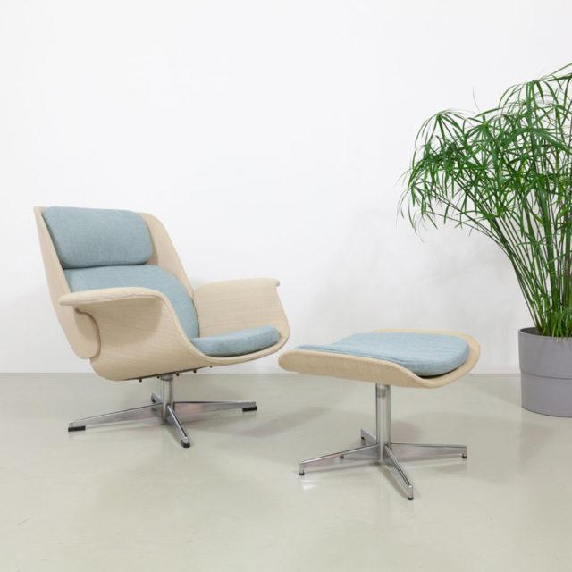 Asko Olli Borg Lounge Chair mit Ottomane (816)