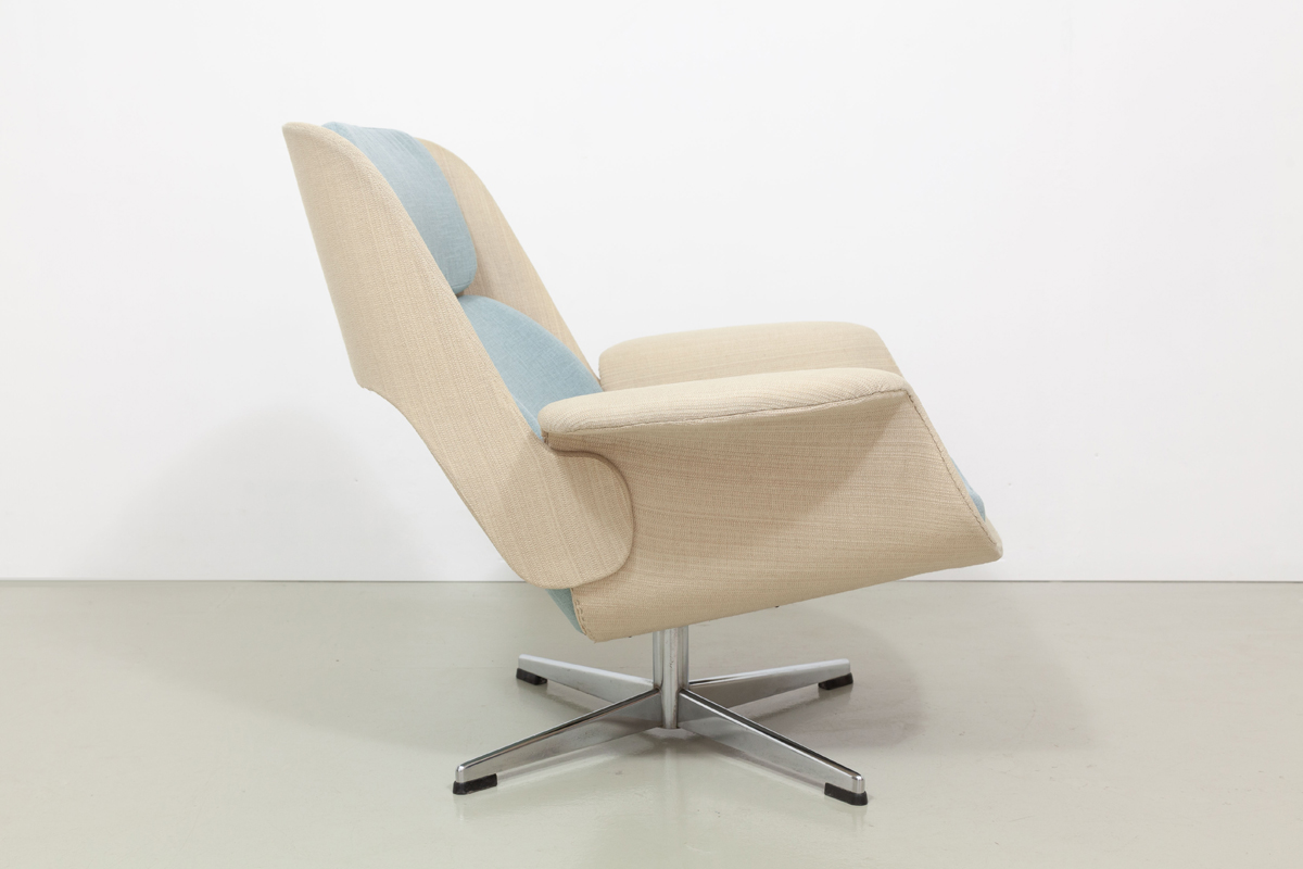Lounge Chair mit Ottomane
