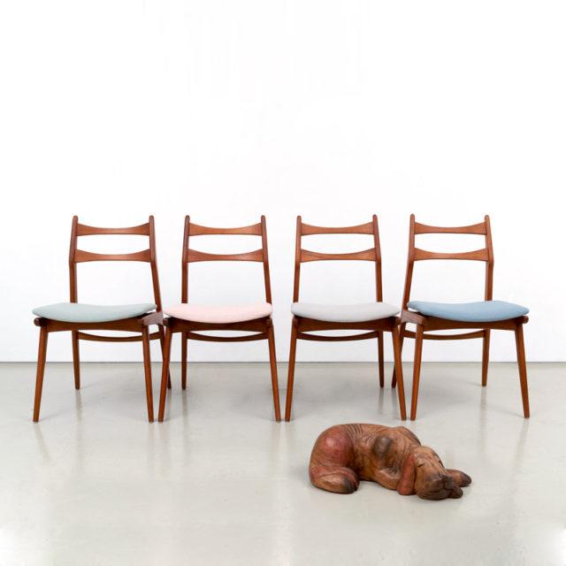 Habeo Teak – Esszimmerstühle, Modell Boomerang (821)