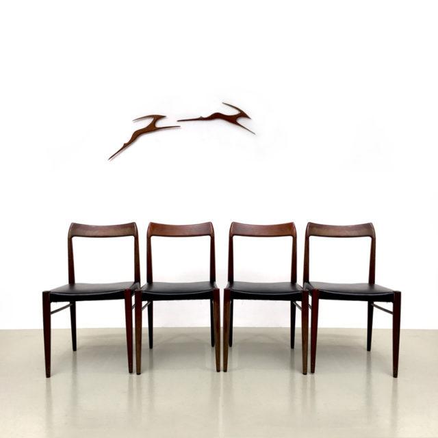 Set 4 Palisander Stühle  in Aufarbeitung