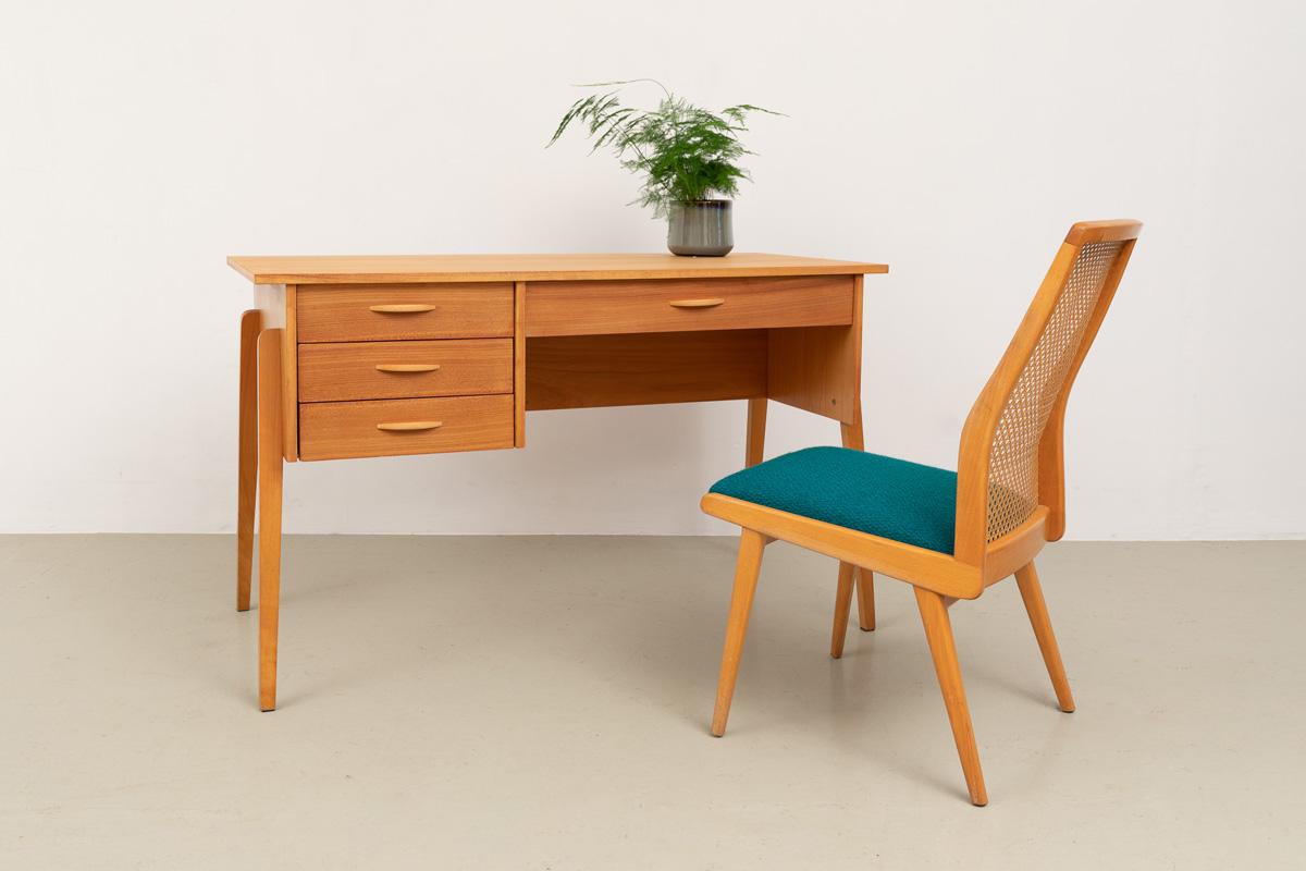 Schreibtisch 60er Esche Designklassiker