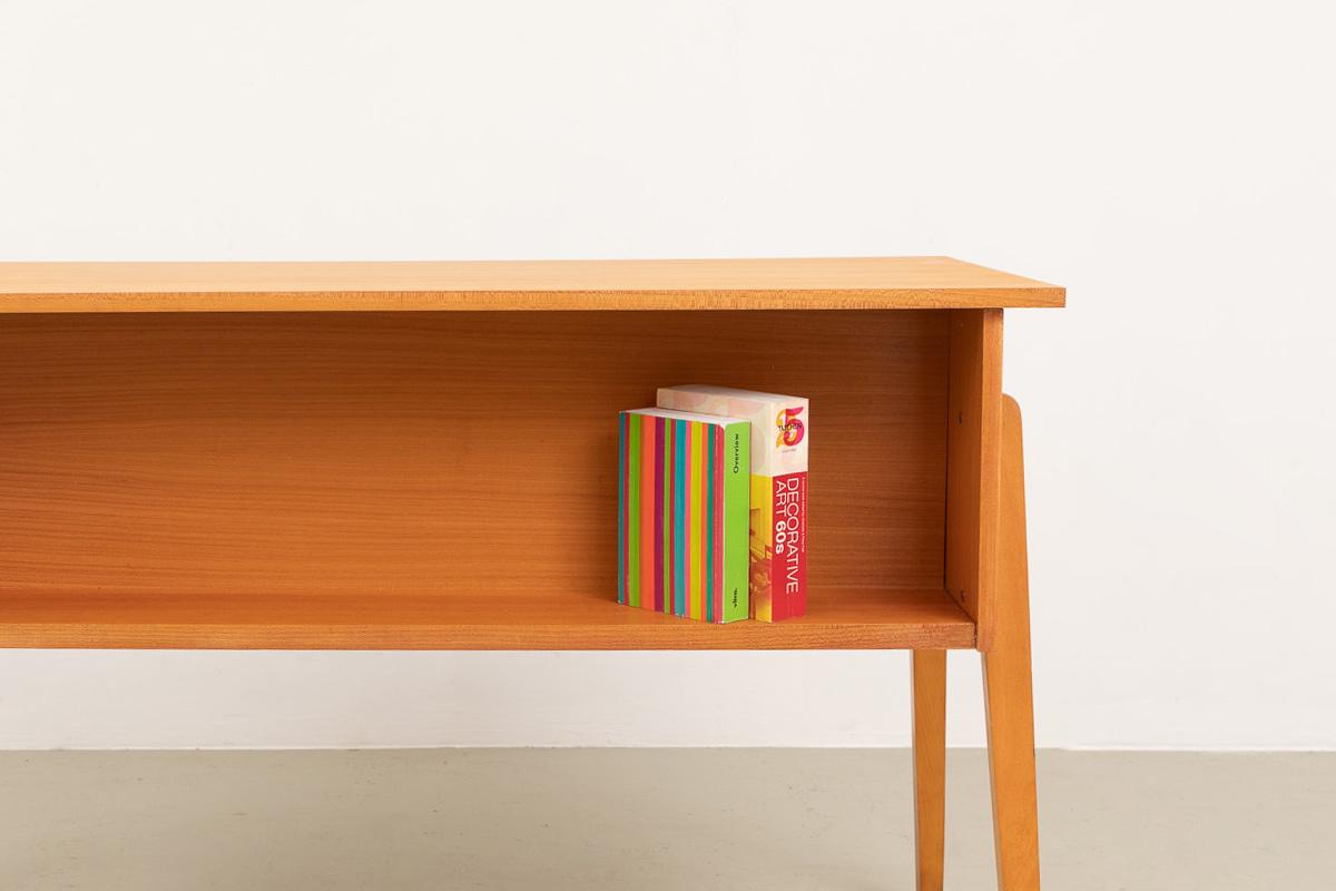 Schreibtisch buecherfach 60er Esche