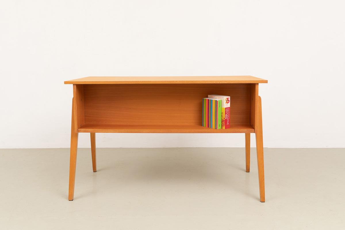 Schreibtisch 60er Eschenholz Designklassiker