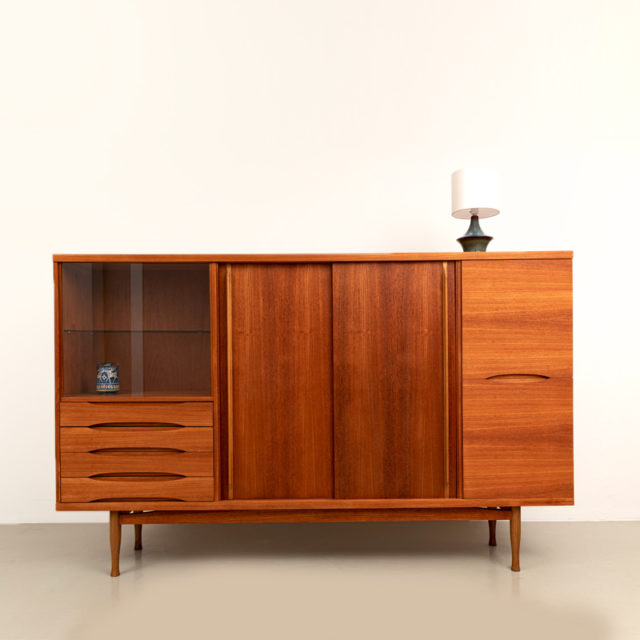 Mid-Century Teak Highboard (885)