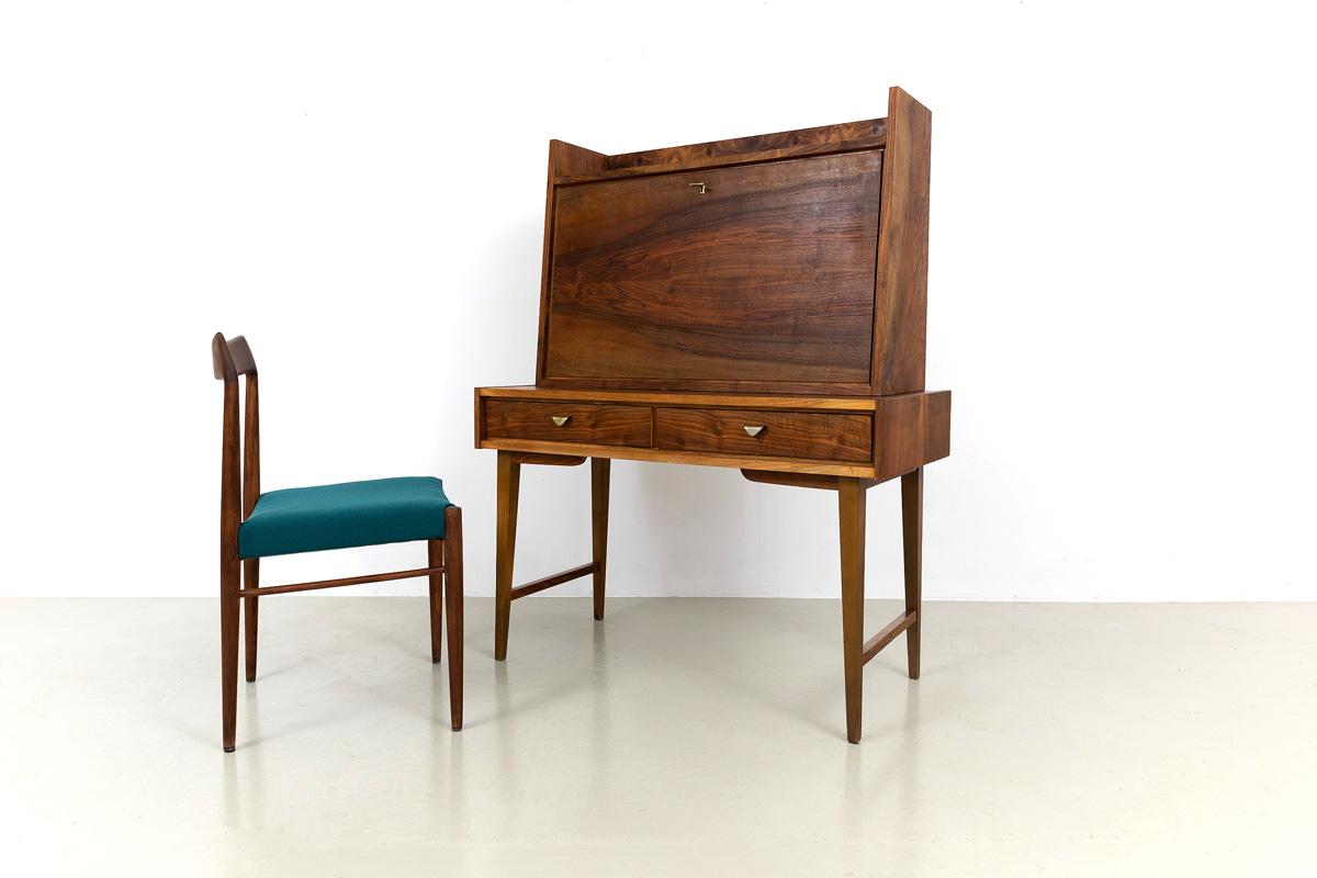 Schreibtisch Ablage Sekretär Nussbaum