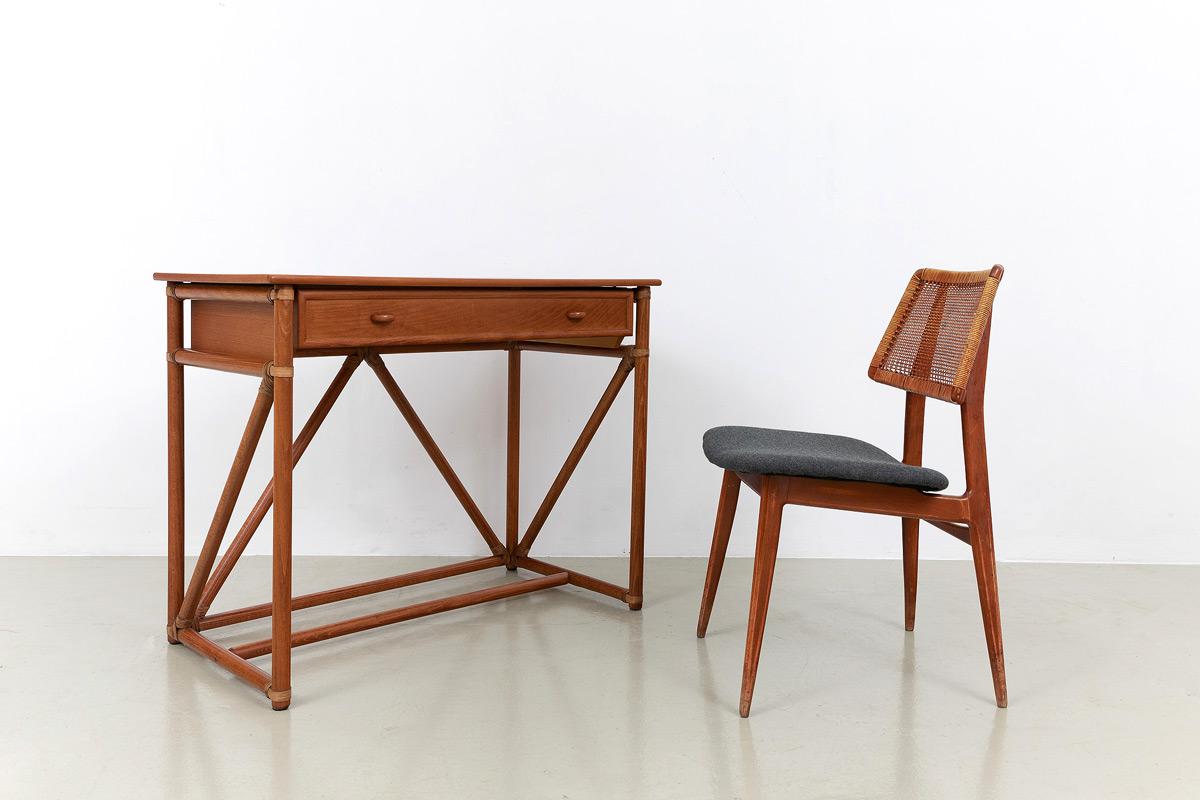 Roberti Rattan Bambusoptik Schreibtisch