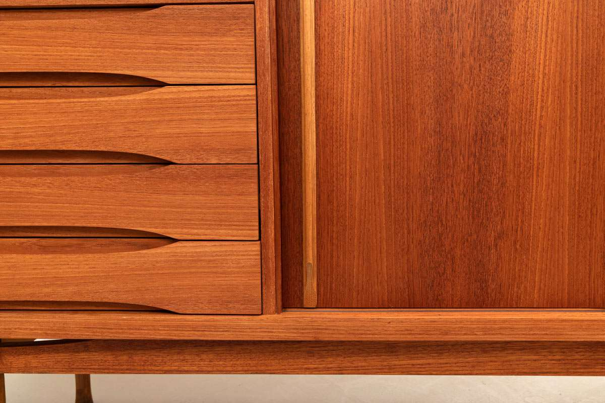 Furniture Teak Highboard Hvidt