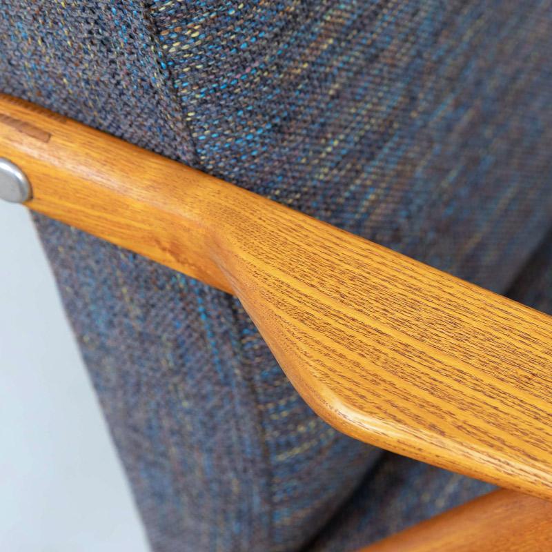 Armchair eiche Möbelstoff aufgearbeitet