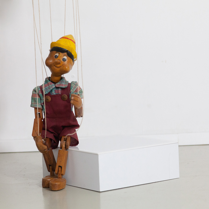 Holzfigur Pinocchio Marionettenfigur