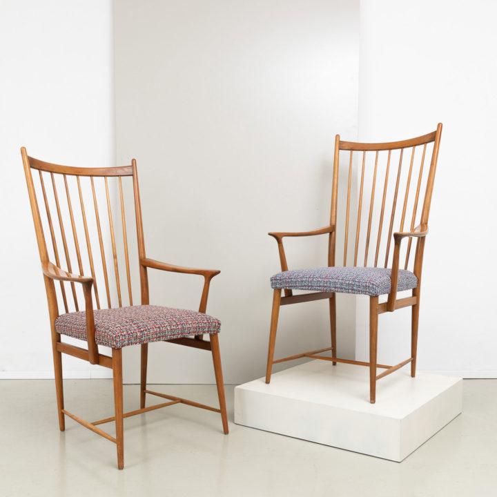 1950er Jahre Josef Hillerbrand Armlehnen-Stühle