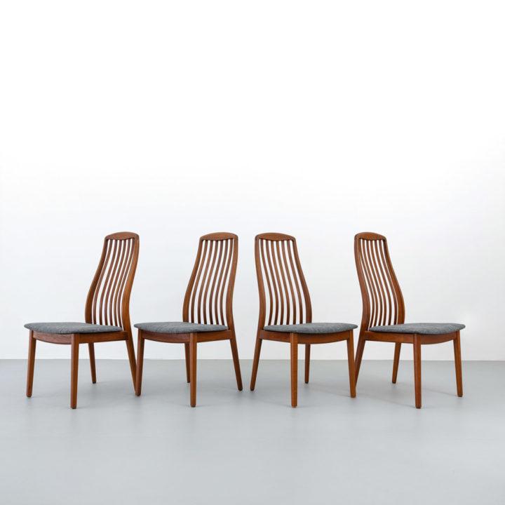 60er Jahre Teak-Stühle, Schou Andersen