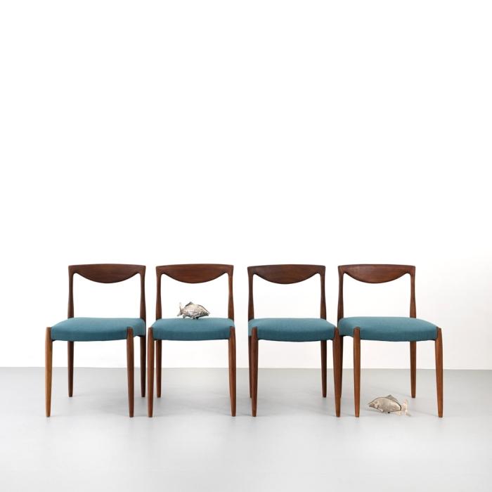 60er Jahre Palisander Esszimmerstühle Set