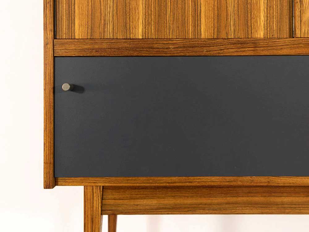 60er Jahre Highboard mit Türen, mid-century