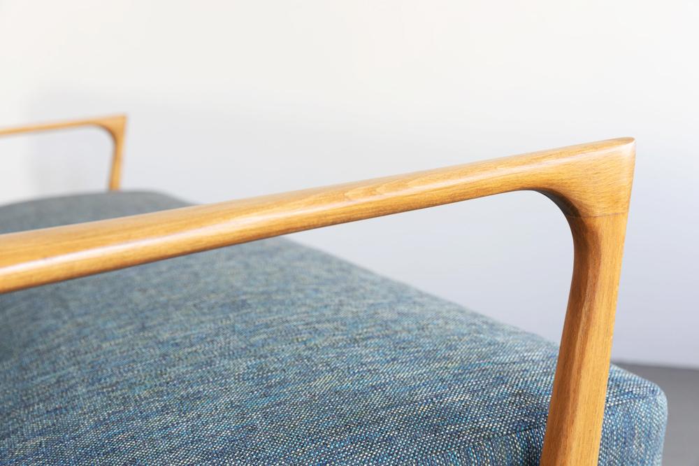 sofa Schlafsofa vintage grau