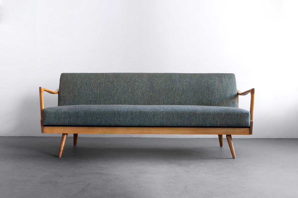 daybed Eichenholz Couch 50er