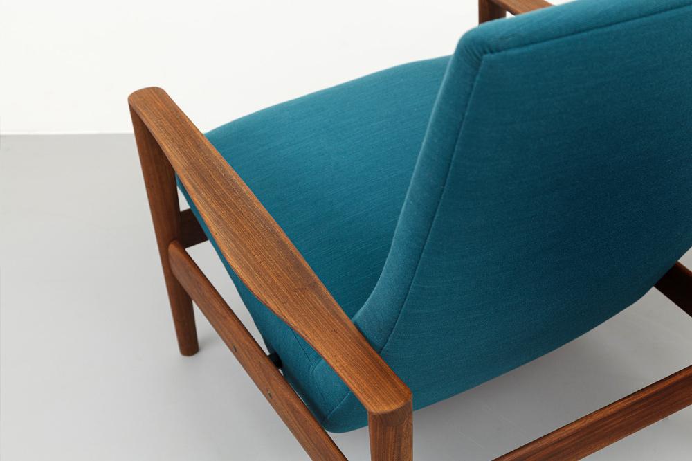 Dokka Lounge Sessel 60er Jahre Rückansicht