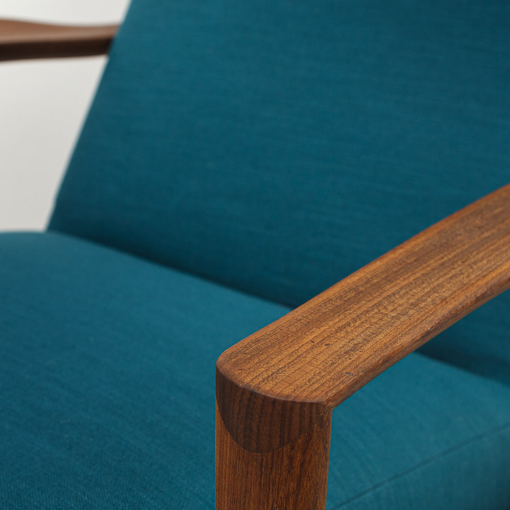 petrol Dokka Lounge Sessel 60er Jahre