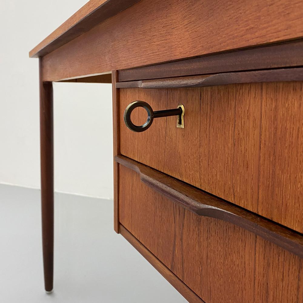 teak Schreibtisch palisander Schublade