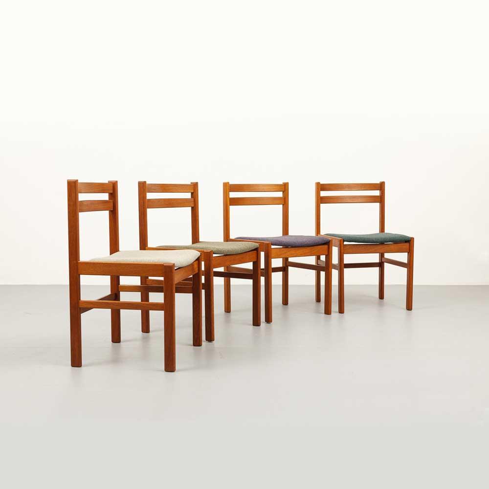 Mid-century Teak Stühle, Set, designklassiker