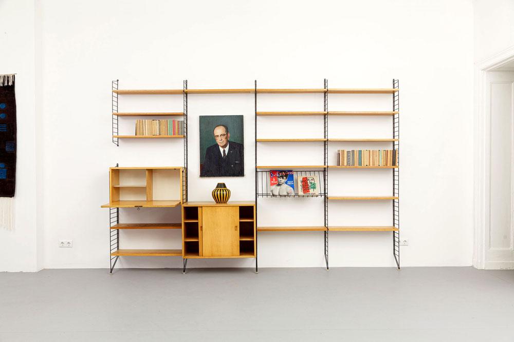 String Büecherregal, 50er Jahre, designklassiker