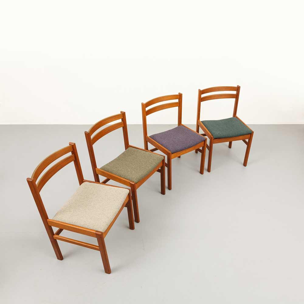 Teak Vollholz Stühle, 60er Jahre, designklassiker