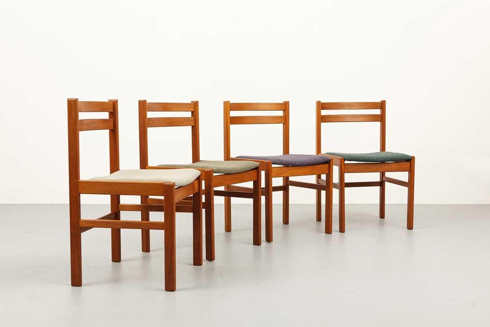 Teakstühle, Mid-century, 60er, designklassiker
