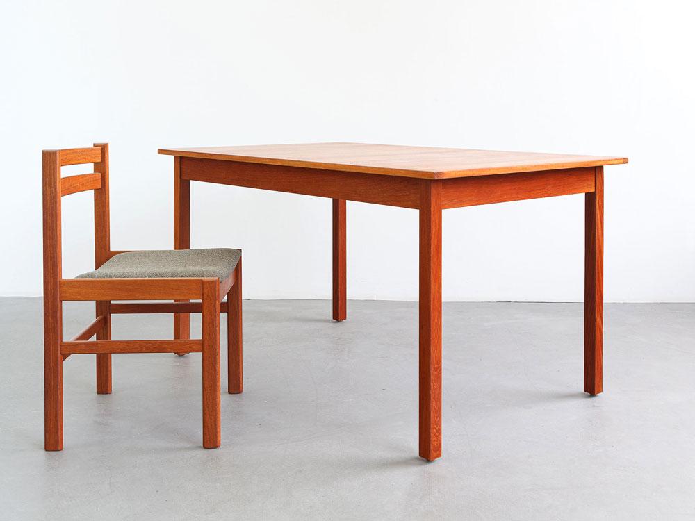 Tisch mit Auszugsplatten, Teak, Vintage, designklassiker