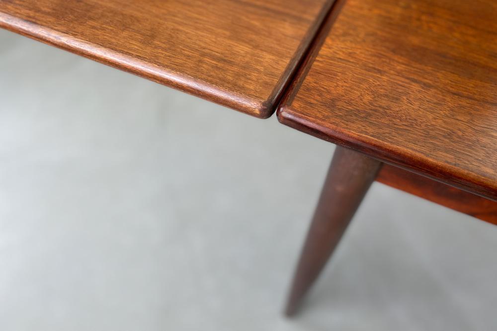 Tischplatte seidenmatt teak midcentury