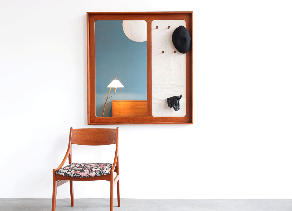 Mid-century modern Spiegelgarderobe, designklassiker