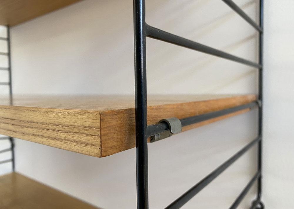 Bücherregal, 60s, Leitersystem, Tablare