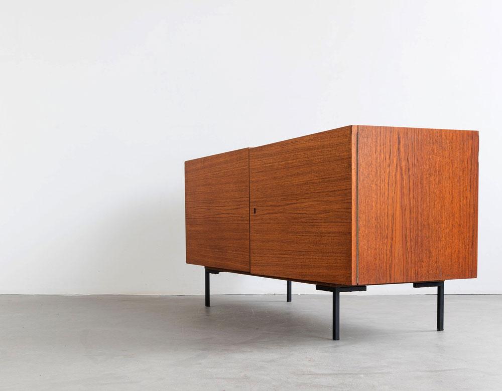 Teakholz Esche Sideboard, Vintage