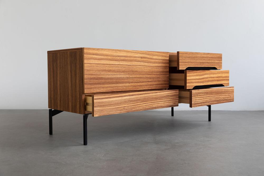 Edelholz zebrano sideboard 60s
