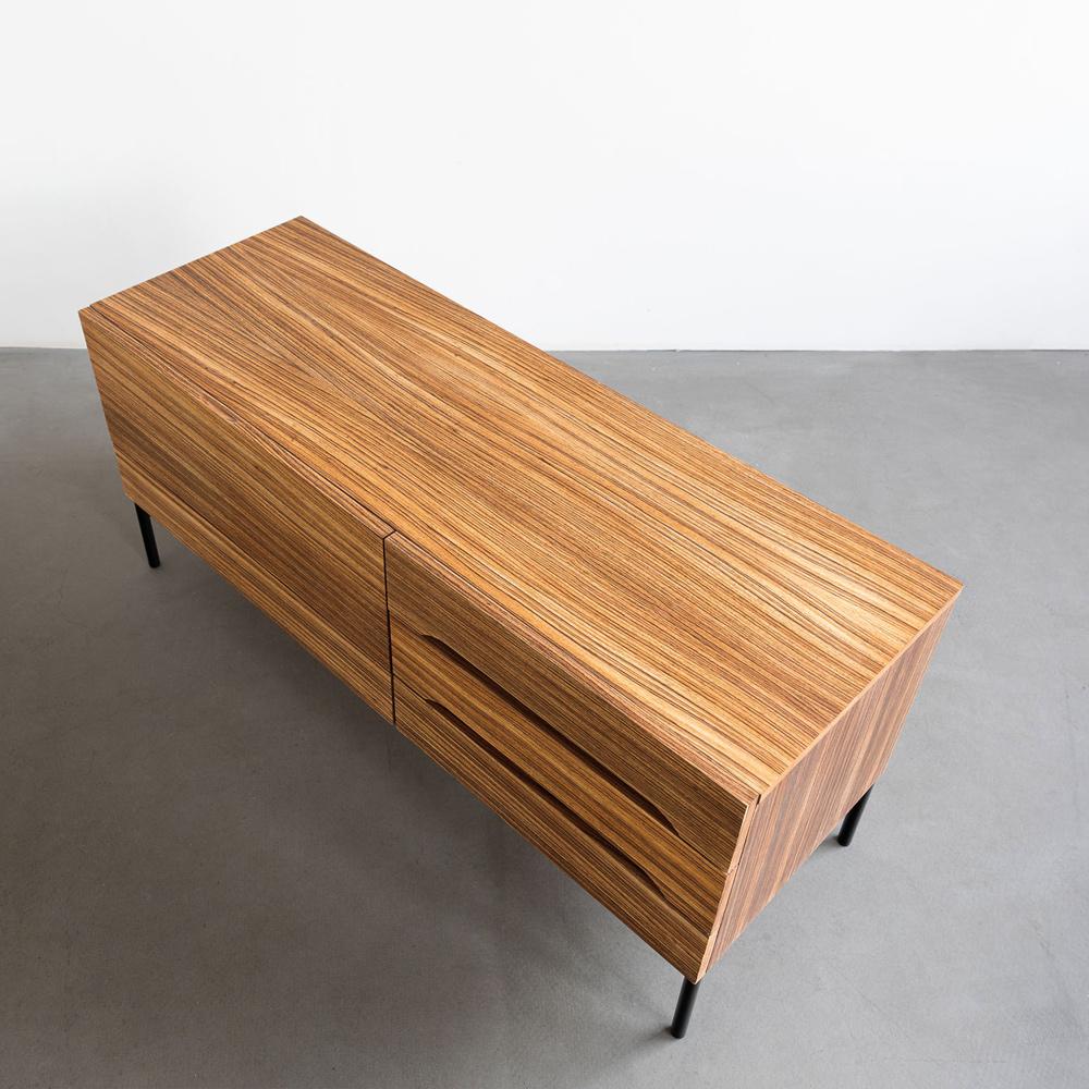 zebrano sideboard lowboard midcentury