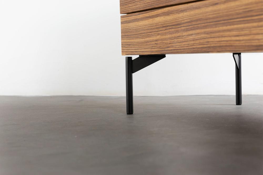 Möbelfüße schwarz zebrano vintage