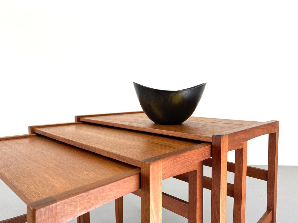 Teak Tische, Set, 60er Jahre