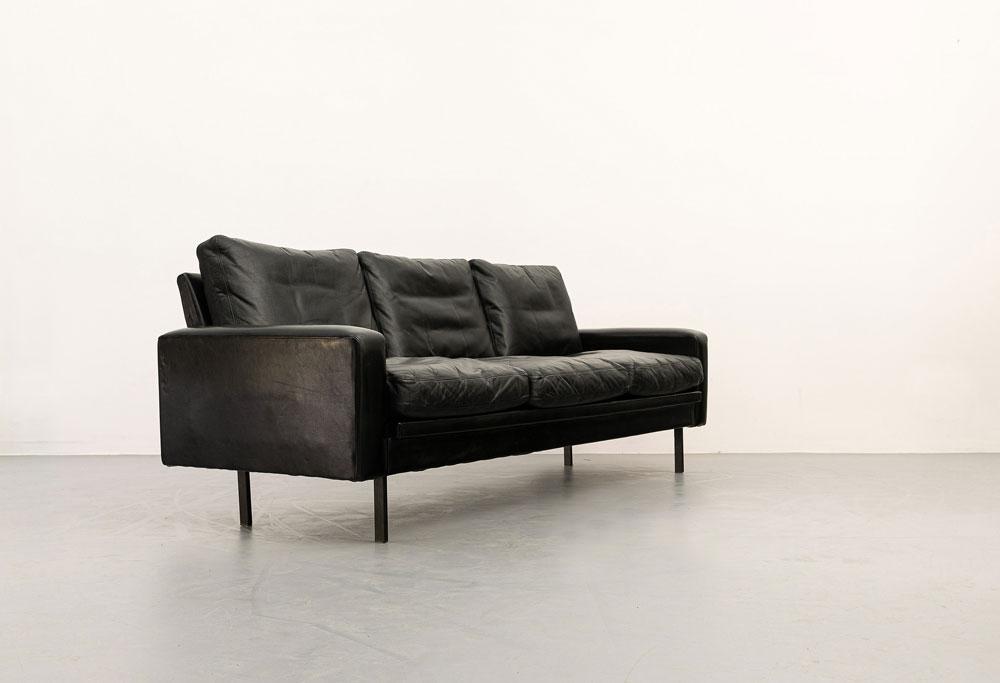Mid-century Sofa aus Leder