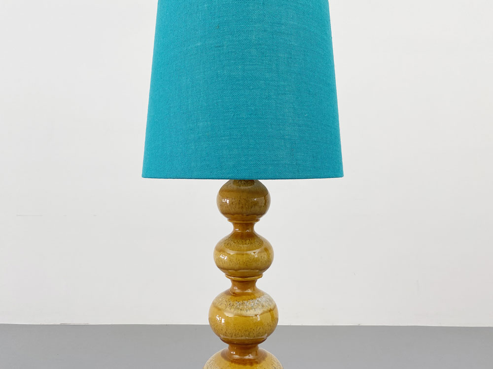 Keramikfuß Tischleuchte, Stoff Lampenschirm