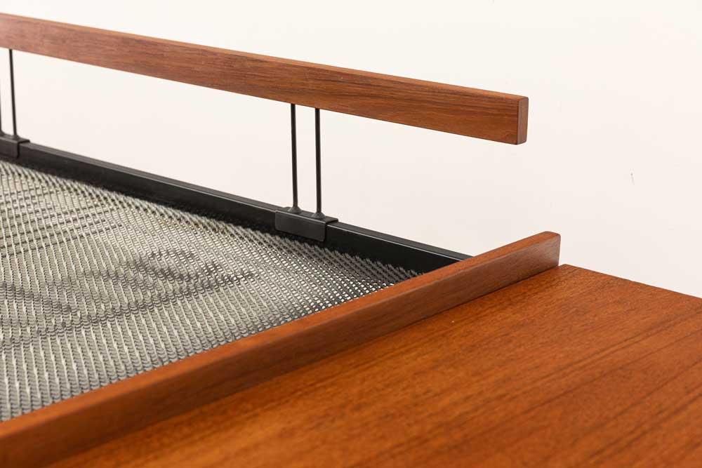 Sofa Couch, Teak Ablage, Tisch, 60s
