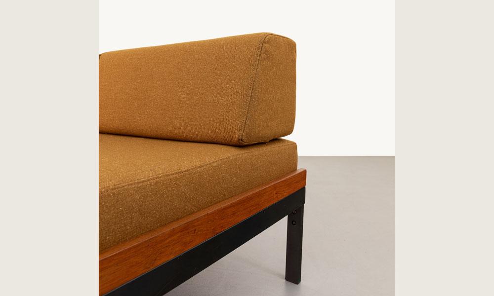 Sofa, 60er Jahre, Stahlgestell, Vintage