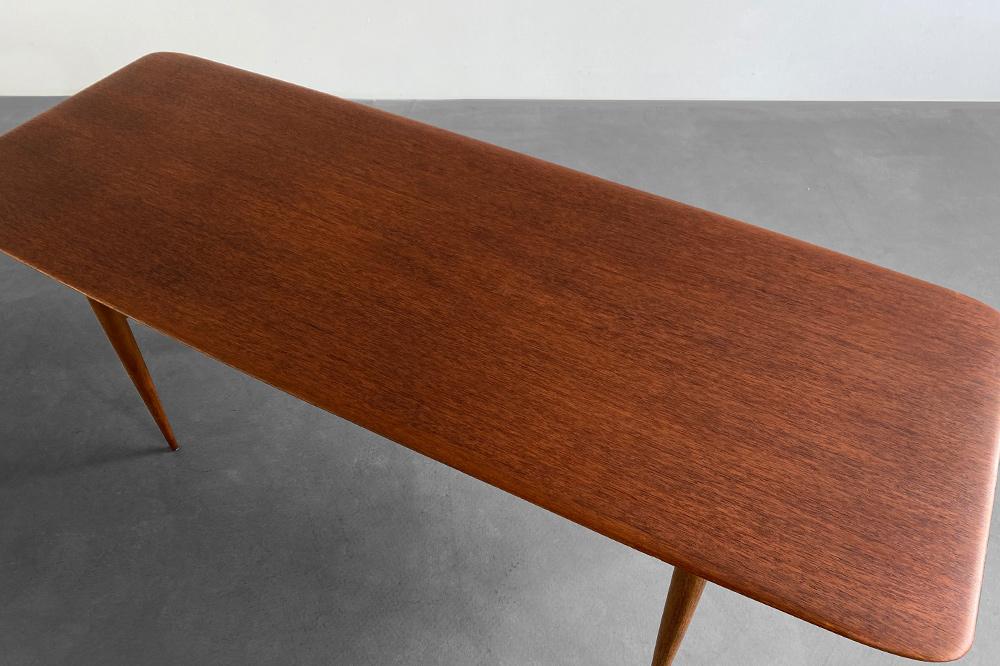 teak vintage surf table