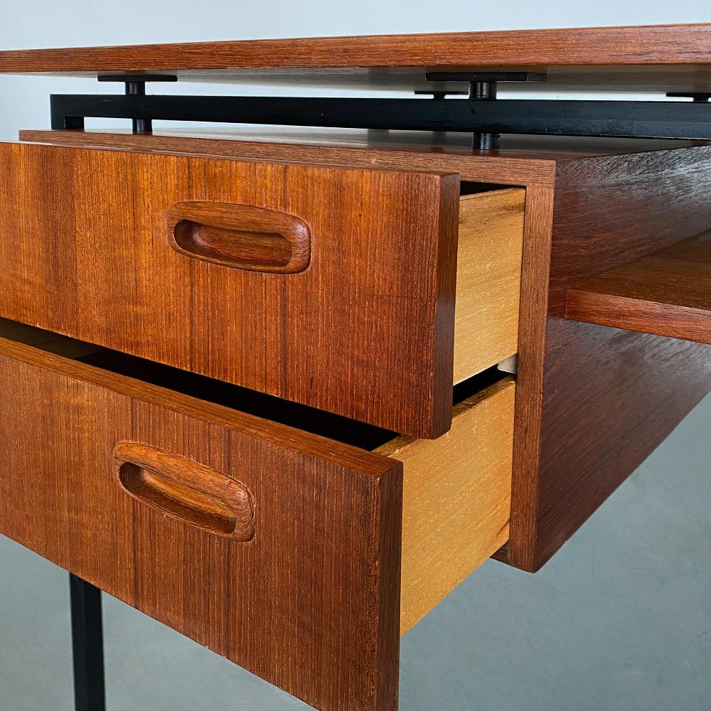 Arbeitstisch teak Schubladen vintage