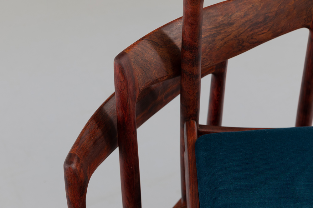 vintage Palisander Stühle 60er