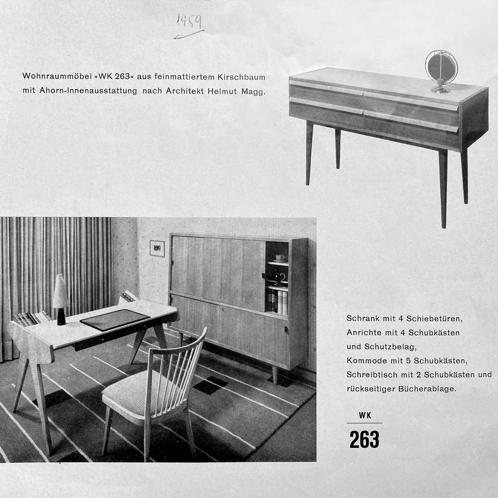 Datenblatt 50er Jahre, WK Möbel
