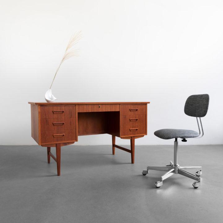 Teak Schreibtisch 60er Jahre