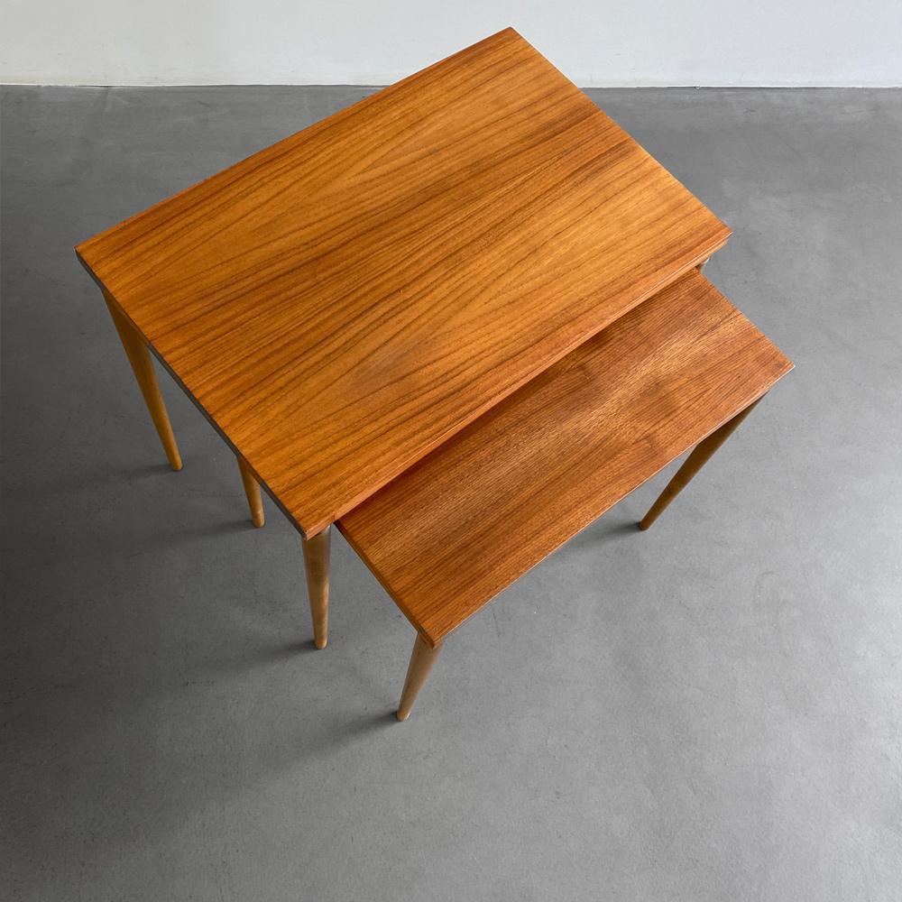 60er furniture Nussbaum Beistelltische