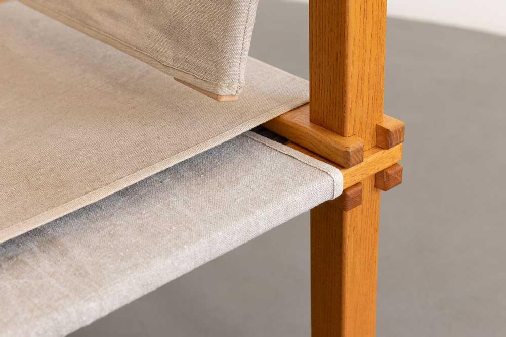 Outdoor Sessel, 60er Jahre, Eschenholz