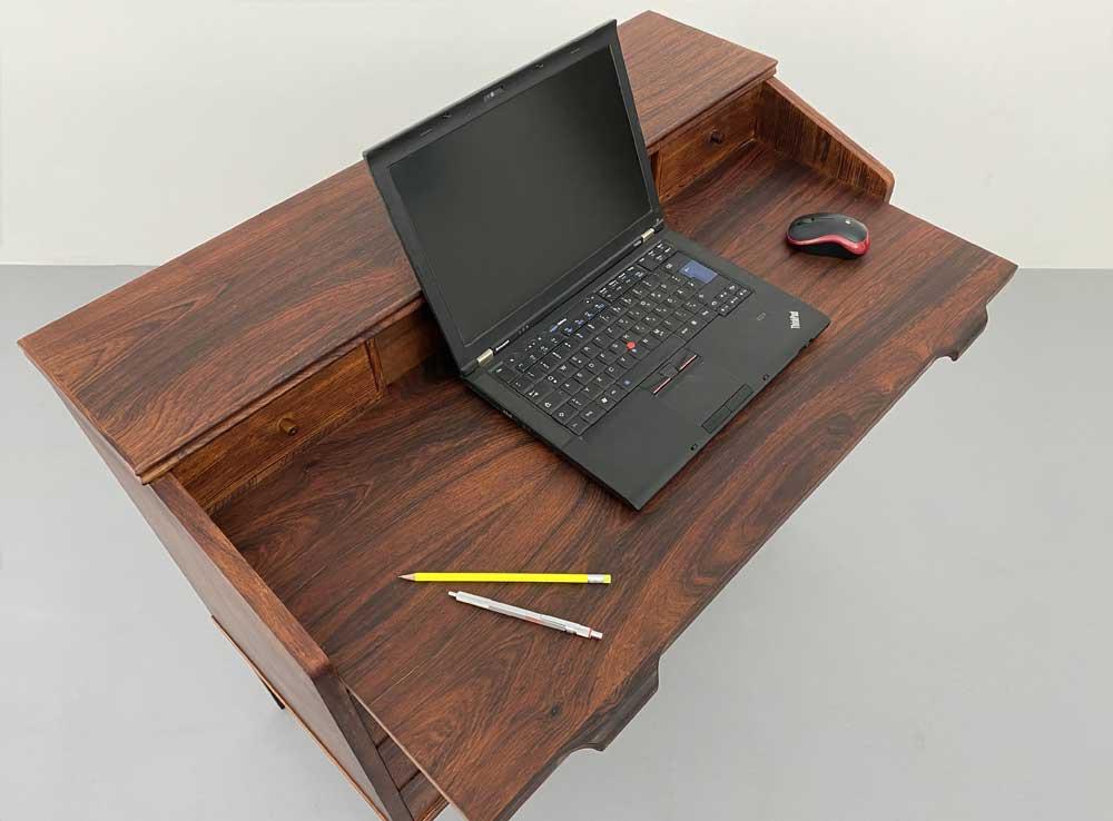 Arbeitstisch-, Desk, Palisander, Vintage