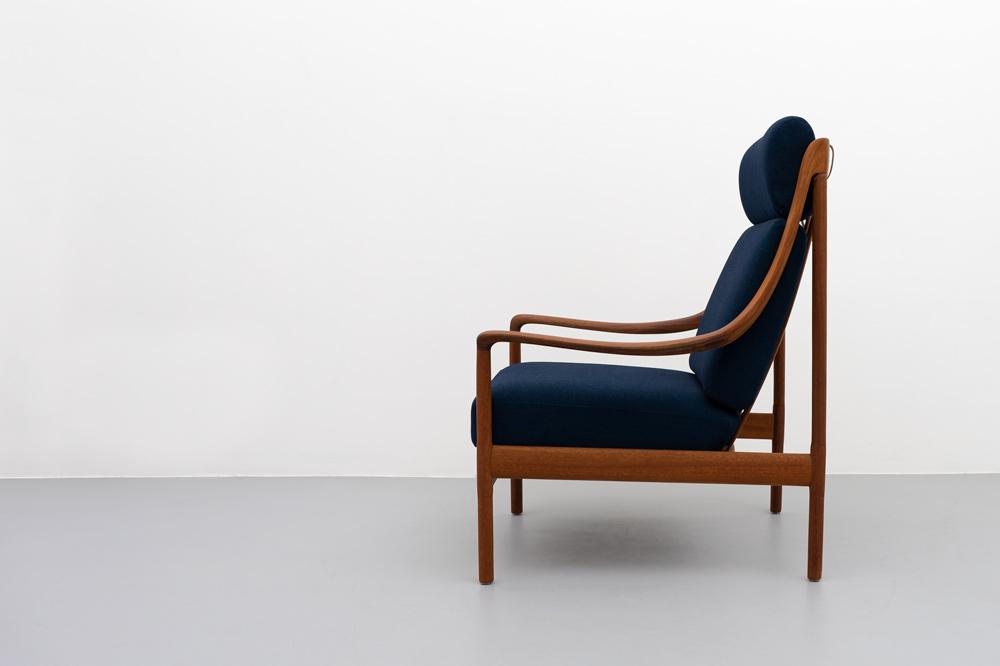 60er Jahre Teak Sessel Seitenansicht