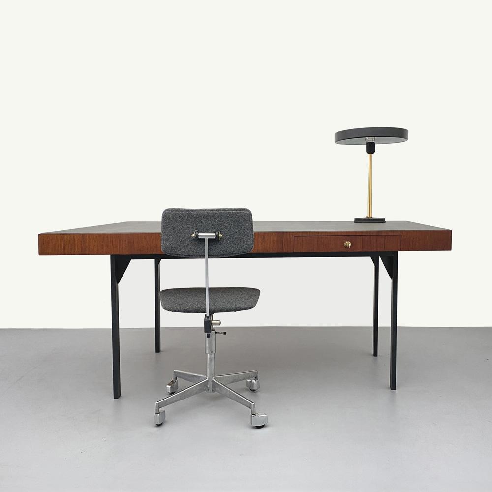60er Jahre Trapez, Teak, Schreibtisch